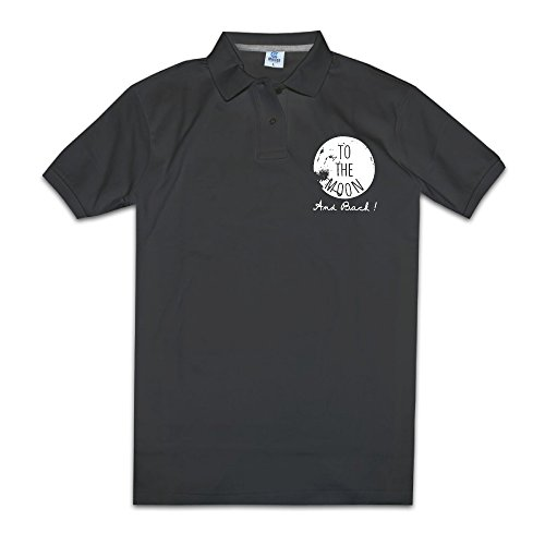 (To The Moon And Back Men Polo Style M Black)