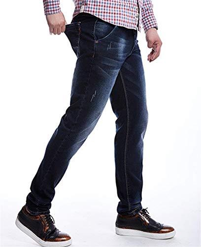 Hombres Rectos Ocasionales Vaqueros del Los La Largos De La Pantalones Vaqueros De del Tamaños Pantalones Ropa Dunkelblau Moda De Pantalones E Cómodos Pantalones Vaqueros Vendimia Pantalones E Pantalones Pierna CqwgAt