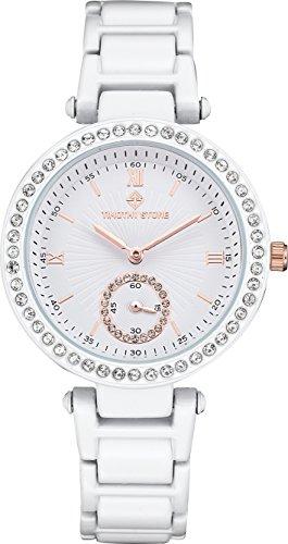 Timothy Stone ELLE CERAMIC White Women's Design Watch 36mm
