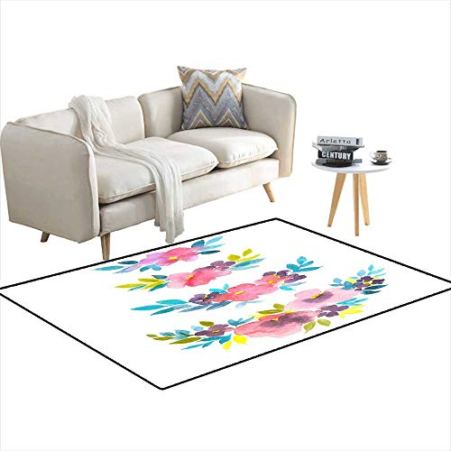 - Room Home Bedroom Carpet Floor Mat Set Stylish Watercolor Floral dividers Handrawn Natural Decor for Cards Illustrations Invitations or Gift Cards 36