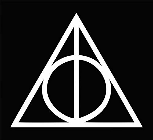 "Price comparison product image CMI234 Deathly Hallows Harry Potter (2 Stickers of 2"") Die Cut Vinyl Car Decal Sticker for Car Window Bumper Truck Laptop Ipad Notebook Computer Skateboard Motorcycle"