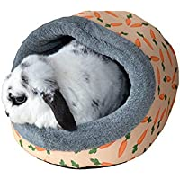 Rosewood Snuggles Carrot Plush Hooded Bed