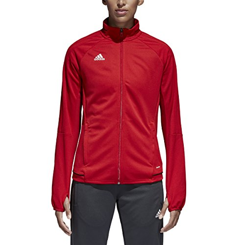 Football Training Jacket (Adidas Tiro 17 Womens Soccer Training Jacket XL Power Red-Black-White)