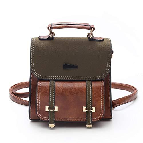 mini retro backpack leather stitching Brown Women's PU PaqxRPw