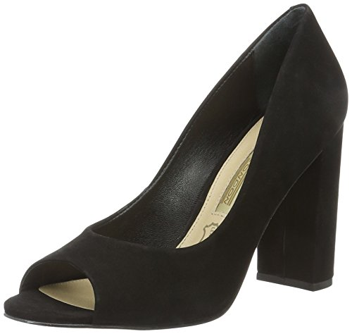 Buffalo London Damen Zs 5720-15 Nobuck Pumps Schwarz (nero 01)