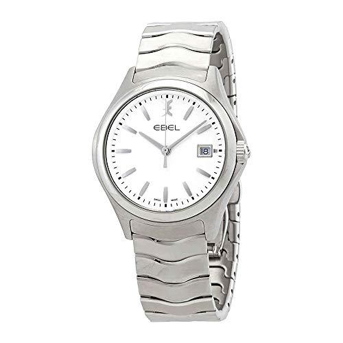 Ebel Wave Watch - EBEL Men's 1216201 Wave Analog Display Swiss Quartz Silver Watch