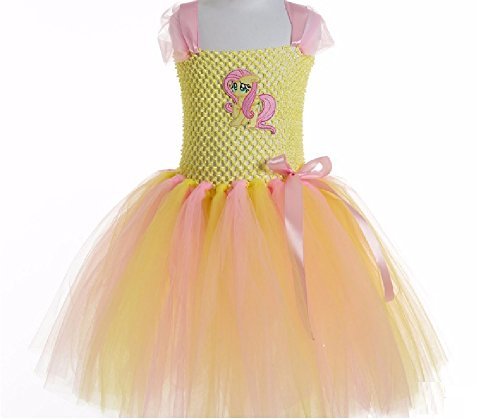 Fluttersby Little Pony Costume Tutu Dress/Accessories from Chunks of Charm (5, Fluttershy Tutu Dress)