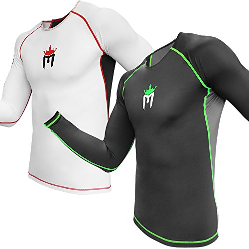 Meister Rush Long-Sleeve Rash Guard for MMA, BJJ & Surfing