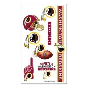 5b3db68cf Image Unavailable. Image not available for. Color  Wincraft Washington  Redskins Temporary Tattoos