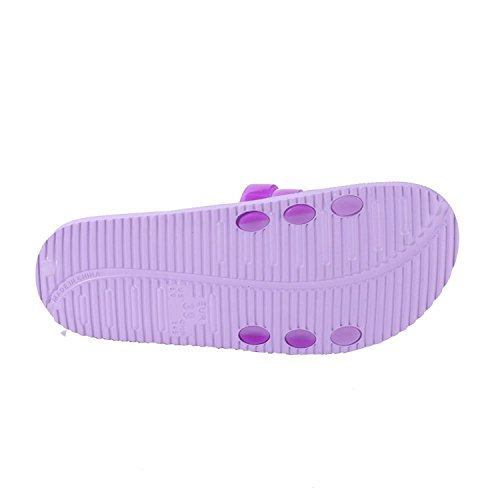 WILLIAM&KATE Mens and Womens Indoor Outdoor Summer Casual Gradient Color Anti-slip Slipper (5UK, Purple)