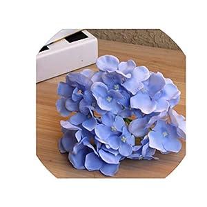 Paramise Silk Flower Wedding Decoration Artificial Flowers Spring Vivid Big Hydrangea Wedding Flowers Decoration 15colors,Sky Blue 27