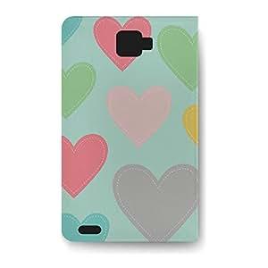 Leather Folio Phone Case For Samsung Galaxy Note 2 Leather Folio - Big Heart Lightweight Premium