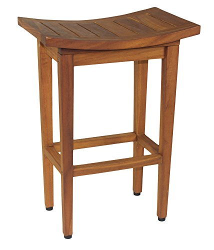 AquaTeak The Original 24 Tall Maluku Teak Counter Stool