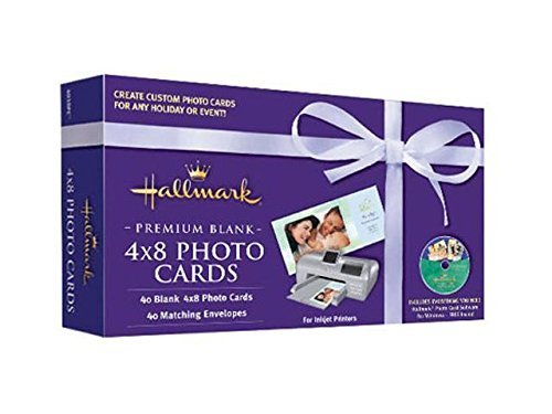 Nova Development US Hallmark Premium Blank 4x8 Photo Cards by Nova Development US