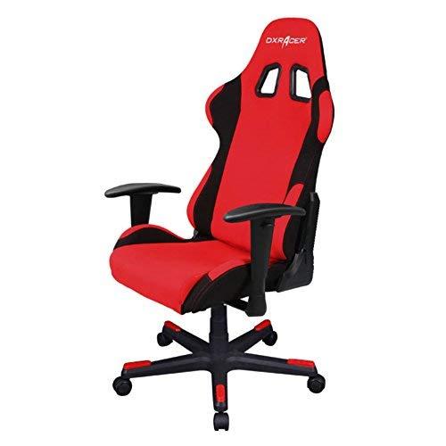 DXRacer Formula Series DOH/FD01/RN Office Chair Gaming Chair Ergonomic Computer Chair eSports Desk Chair Executive Chair Furniture with Free Cushions (Black) (Red/Black) DXRACER USA LLC