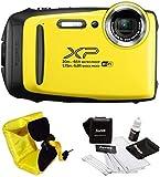 FujiFilm FinePix XP130 Rugged Waterproof WiFi Digital Camera (Yellow) + Focus Floating Strap Bundle