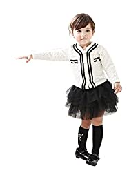 Coco Little Girls Jacket Tutu Skirt Set White