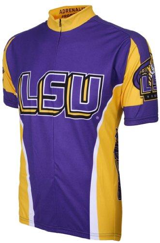 NCAA LSU Adrenaline Promotions Cycling Jersey, Small (purple/yellow)