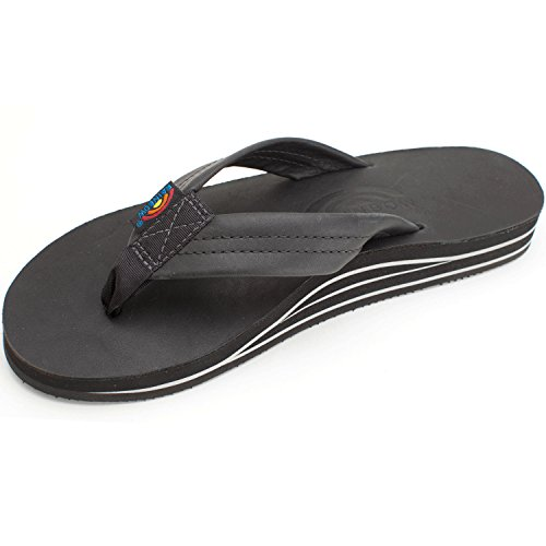 Sandals Premier colors Layer Leather Black Double Multiple Mens available Rainbow Uxa41Iq