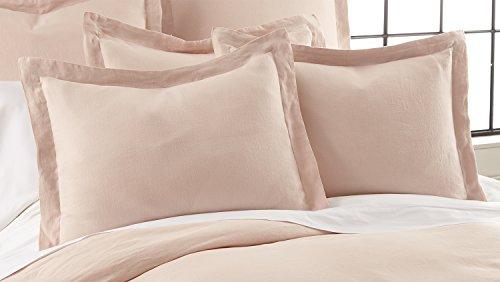 Levtex Washed Linen Blush Sham w/Flange (Pillow Blush Shams)
