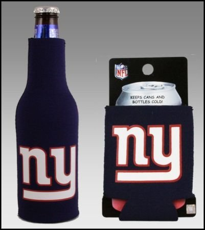 - SET OF 2 NEW YORK GIANTS CAN & BOTTLE KOOZIE COOLER