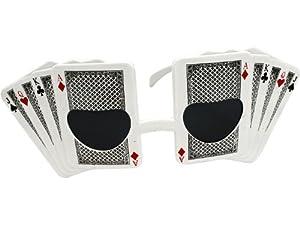 White Poker Card Fashion Sunglasses
