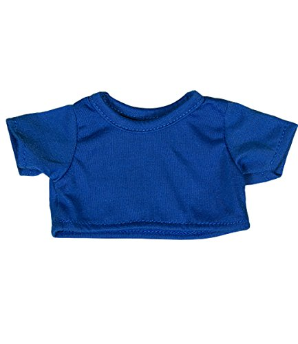 "Royal Blue T-Shirt Fits Most 8""-10"" Webkinz, Shining Star and 8""-10"" Make Your Own Stuffed Animals and Build-A-Bear"