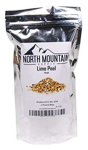 Lime Zest (North Mountain Supply Bulk Dried Citrus Peel - 1 Pound - Lime)