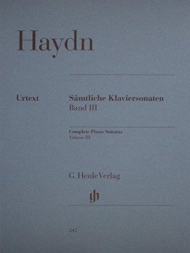 Complete Piano Sonatas Volumeiii (Haydn) Samtliche Klaviersonaten (Haydn Piano Sheet Music)