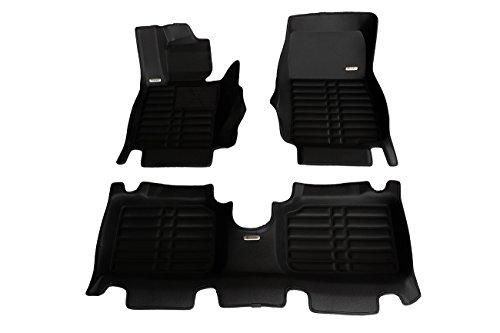 TuxMat Custom-fit 3D Car Floor Mats for Mini Countryman 2011-2016 Models (Full Set - Black)