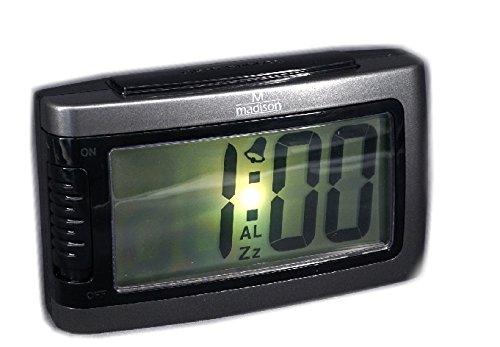 Reloj despertador digital con luz Snooze y pilas incluidas: Amazon.es: Relojes