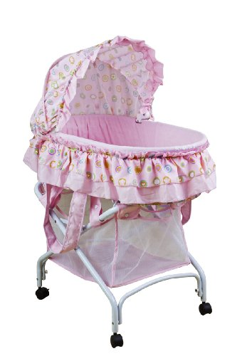 Dream On Me Layla 2 in 1 Bassinet to Cradle, Pink by Dream On Me