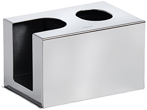 Blomus Tissue Dispenser (blomus 68692 Polished Dispenser for Cotton Buds and Facial Pads)