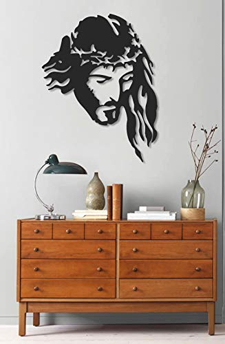 (Master Cut Metal Wall Sculpture Art Decor Home Accent - Jesus Face Art - Indoor Outdoor Decoration- Ideal Gift for Home)