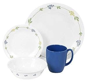 Corelle Livingware 16-Piece Dinnerware Set, Secret Garden, Service for 4