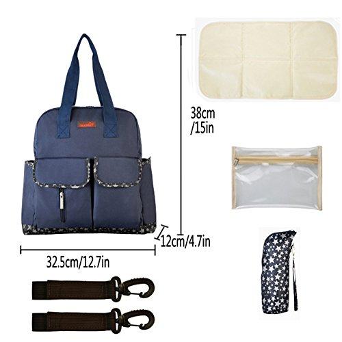 99b6661625b51 ... Kangming 5 x Baby Windel Wickeltasche Mama Set Aufbewahrungsbox Rucksack  Handtasche