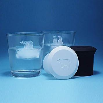 Molde de silicona para hacer cubitos de hielo, diseño de pingüino de oso polar: Amazon.es: Hogar