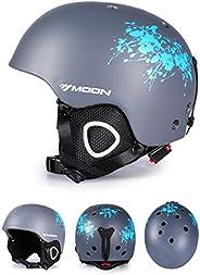Lightweight Ultimate Snowboard Helmet, Ski Helmet for Men Women with Detachable Earmuffs to Regulate Body Temp
