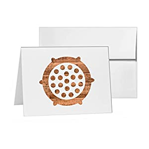 Meat Mincer Mincing Mincemeat Chopper, Blank Card Invitation Pack, 15 cards at 4x6, Blank with White Envelopes Style 12589