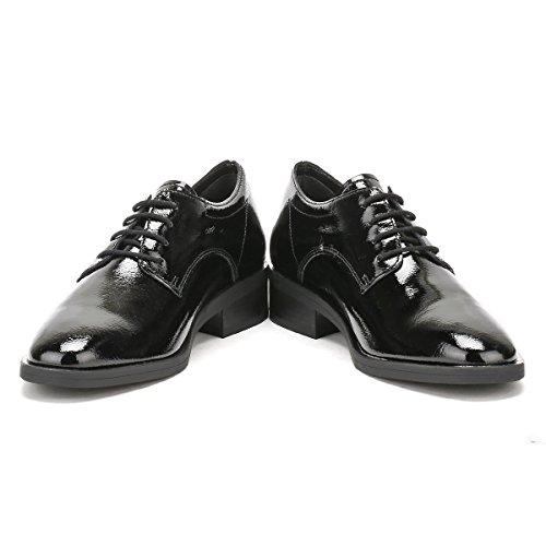 Zwarte Lederen Damesschoenen In Zwart Leder