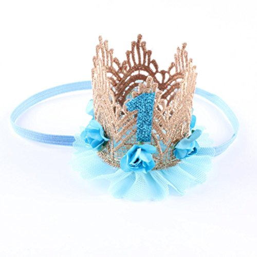 Suppion Baby Boy Girl Party Hats Hairband, Elastic Flower Crown Headband for -