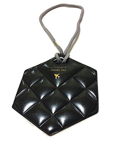 Travel Luggage Tag - Quilted Diamond PVC Design - Baggage Bag Tags - Id Name Card (Standard, Indigo Blue)