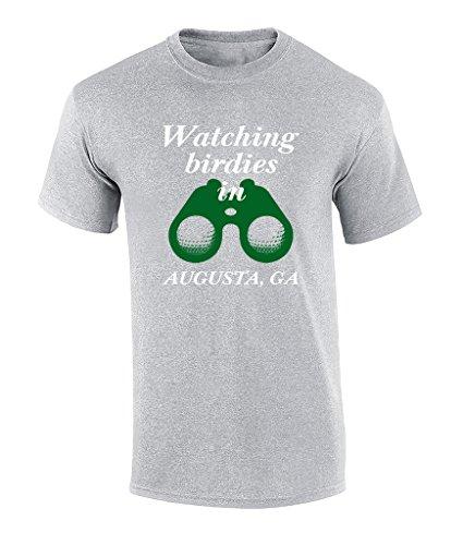 Watching Birdies in Augusta Georgia 2018 Golf Tournament T-shirt-4xl Sports Grey