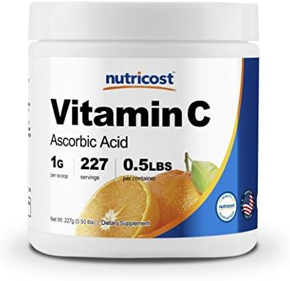 Nutricost Pure Ascorbic Powder Vitamin