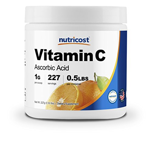 Nutricost Pure Ascorbic Acid Powder (Vitamin C); 1000mg Per Serving – Highest Quality – Immune System Support