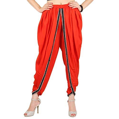 Orange Color Rayon Dhoti Pant, Dhoti Salwar, Patiala Dhoti Pant for Women