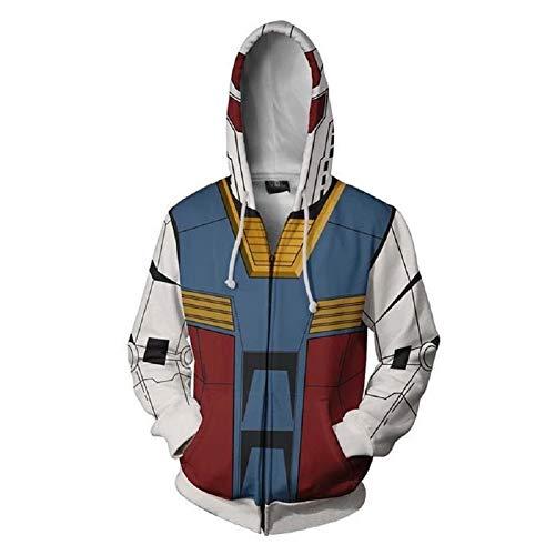 Anime Game Hoodie Unisex Adult Zip Up Sweatshirt Hooded Long Sleeve Costumes M -