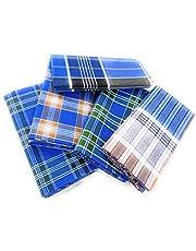 Cotton Colors Men's Multicolor Unstiched Cotton Lungi - Set of 5 (Length - 2.25 Meters)_H56