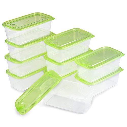 Meal Prep Containers | 20 Piece Set | Thicker Durable | Leak Proof | Food Storage Containers | Bento Lunch Box | BPA Free | Microwave, Dishwasher and Freezer Safe 30oz (10 Containers & 10 lids)