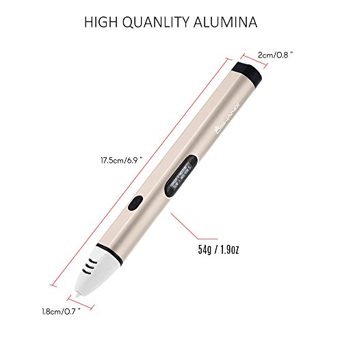 Aibecy Dewang DW-X4-2.0 Intelligent 3D Printing Pen with LCD Screen Kid Birthday Christmas Gift by Aibecy (Image #1)